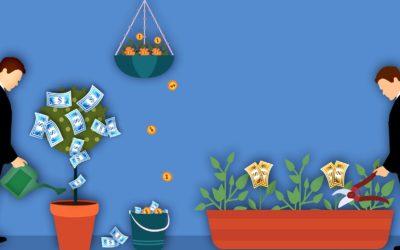 Den moderne teknologi gør det muligt at foretage investeringer, imens du laver havearbejde