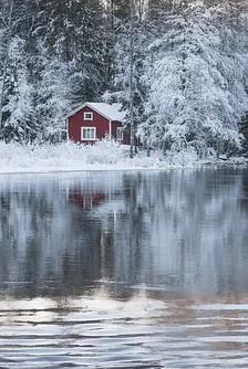 Sommerhus vinter