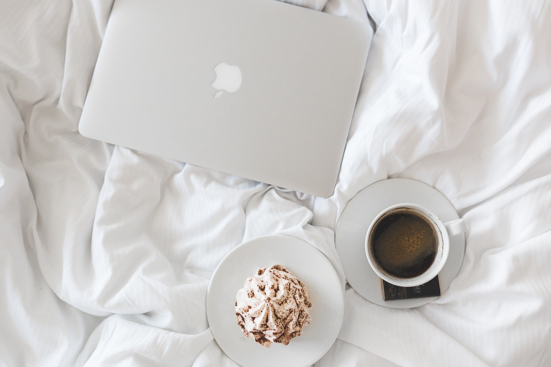 Kaffe-macbook